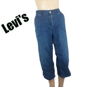 Levi's High Waisted Cropped Capris Jeans Size 16